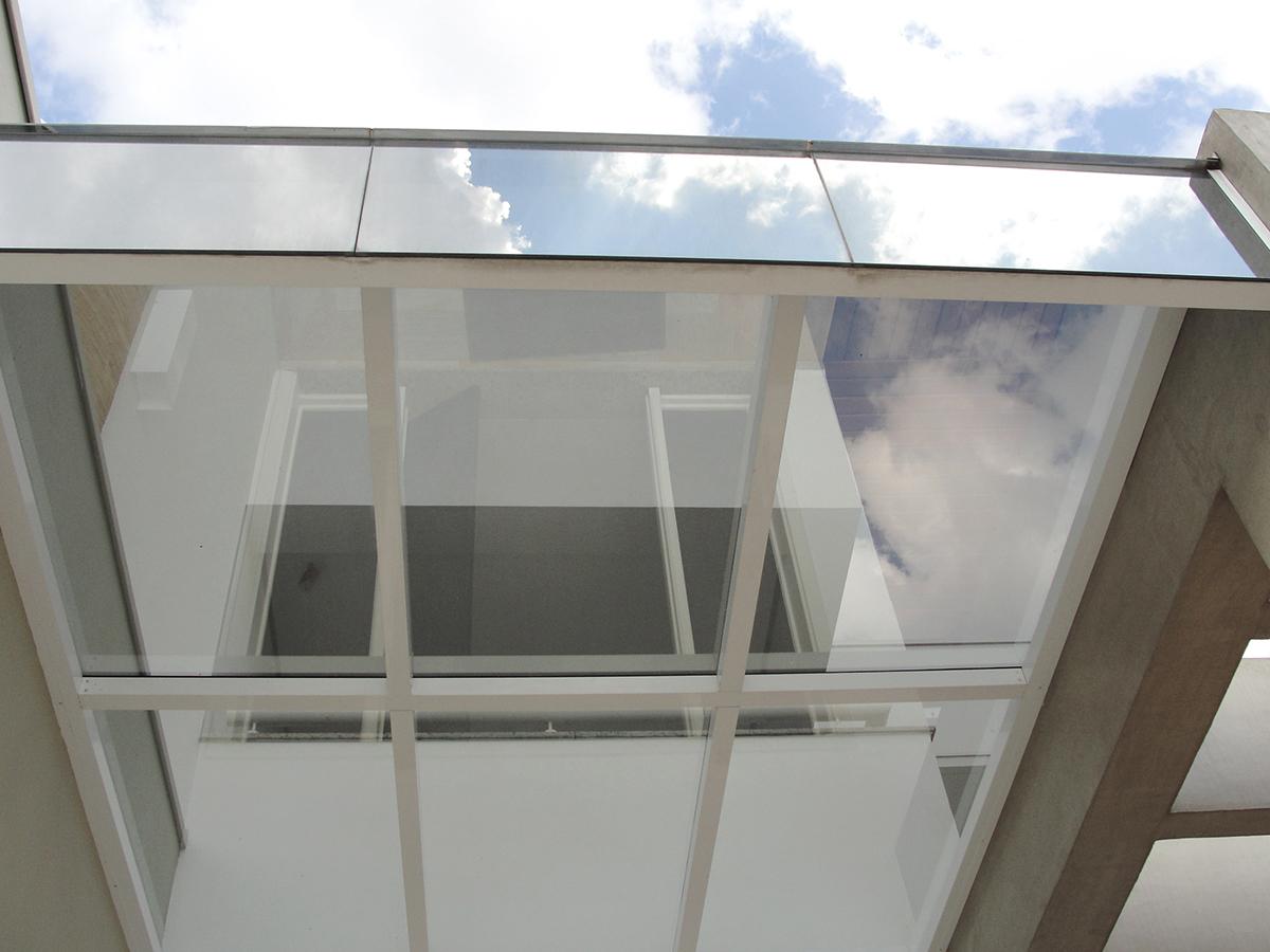 casa cobertura de vidro