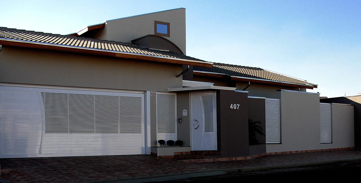 casa portão alumínio engenharia e arquitetura
