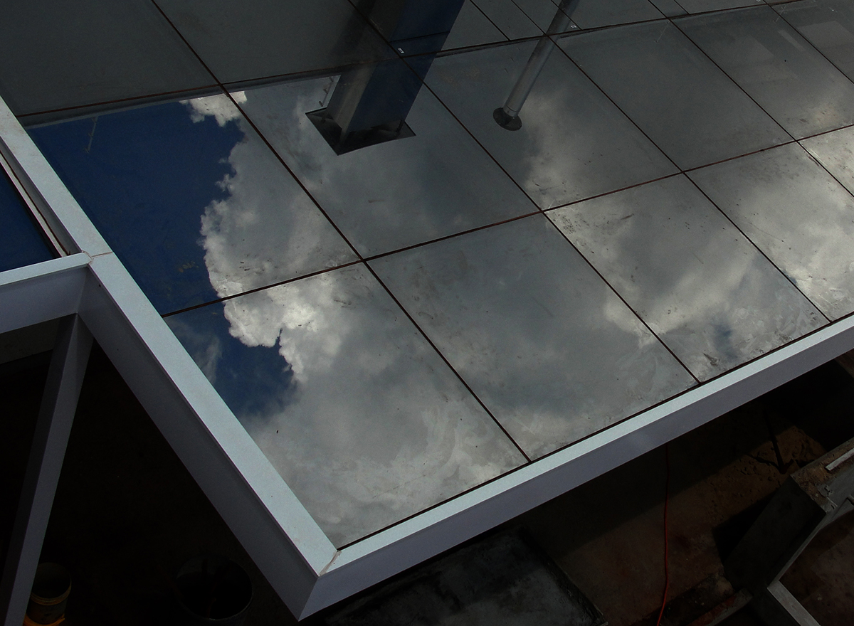 cobertura vidro refletivo laminado