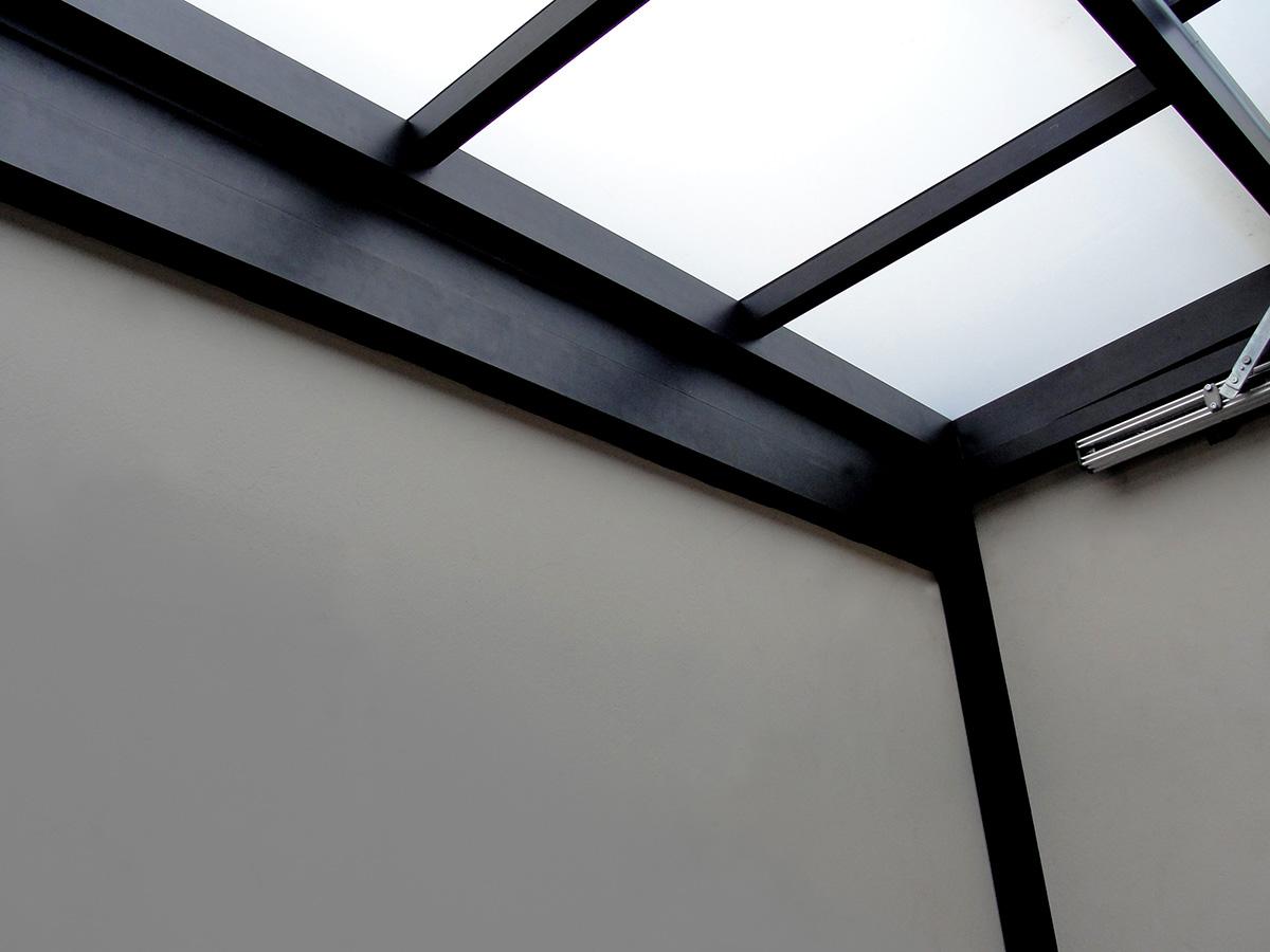 telhado de vidro cobertura