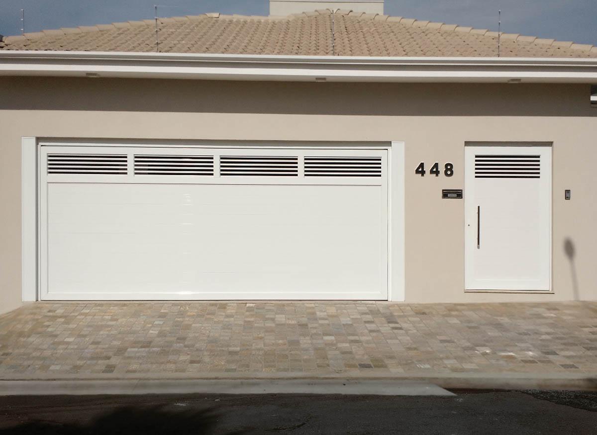 portão de alumínio sob medida para garagem