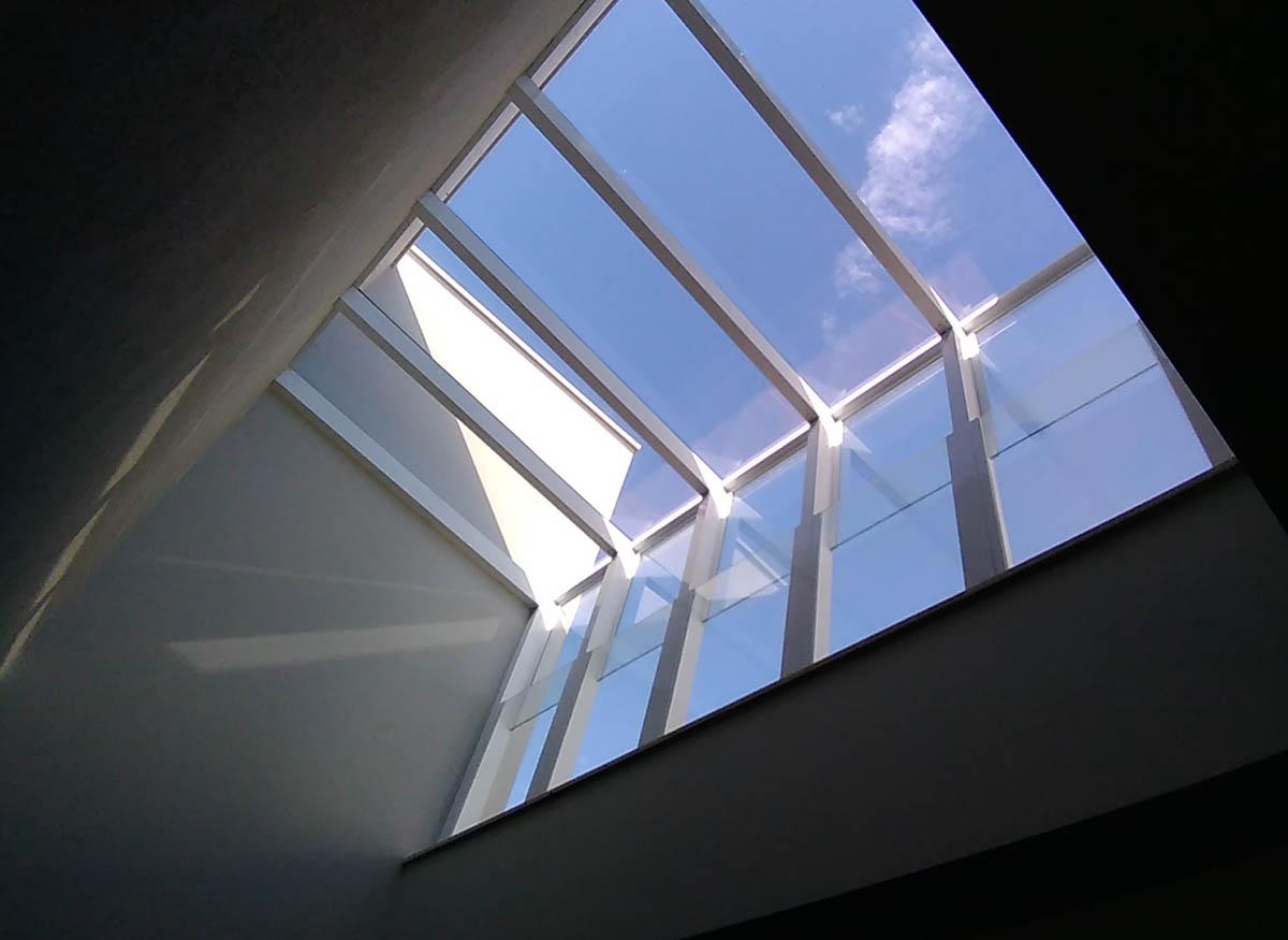 telhado cobertura de vidro laminado