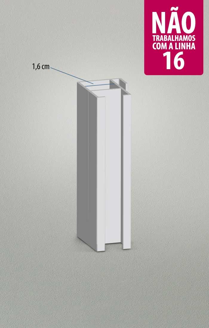 perfil 16 esquadria de alumínio Boxglass