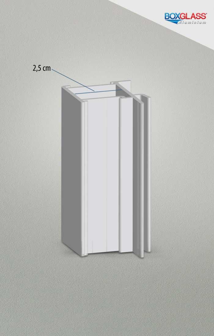 perfil 25 esquadria de alumínio Boxglass