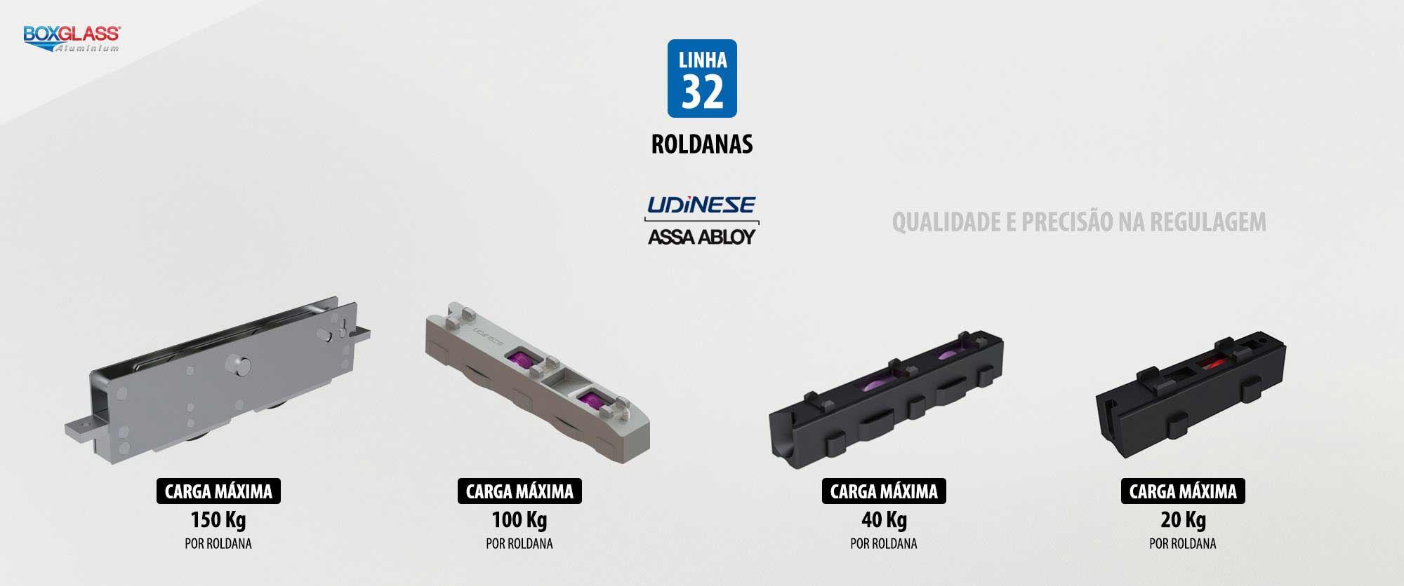 roldanas para esquadrias de alumínio linha32